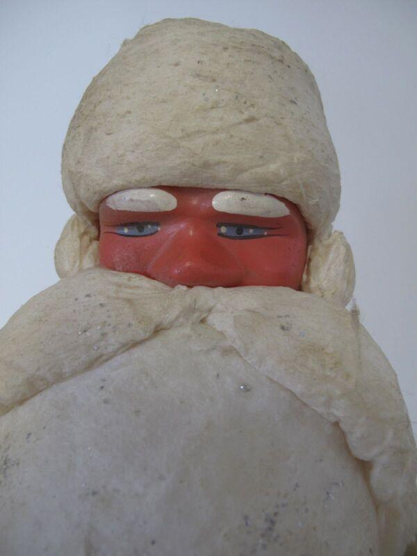 Russian Soviet Christmas Santa figure Glazed Cotton plastic vintage Дед Мороз