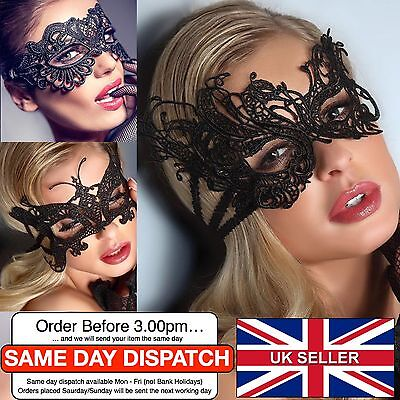 Stunning Venetian Masquerade Lace Eye Mask Halloween Party Sexy Fancy Dress UK