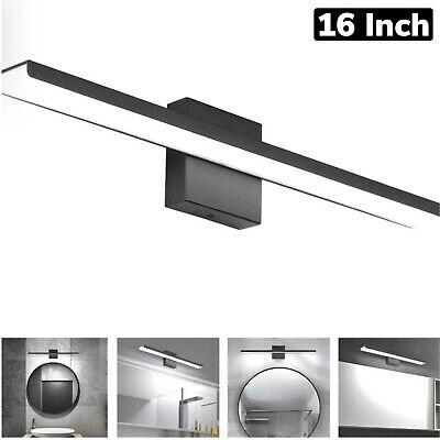 Wide Black Bathroom Vanity Light Fixtures 16 Inch Modern Aluminum LED Light