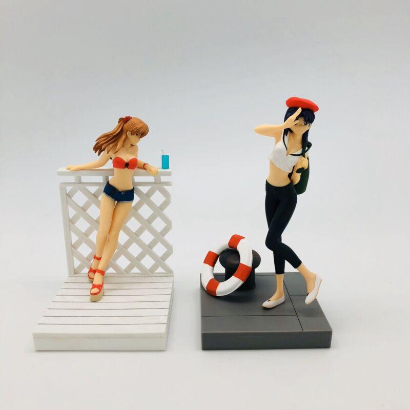 Misato + ASUKA Figures Neon Genesis + Poster EVANGELION EVA SEASIDE Anime Sexy