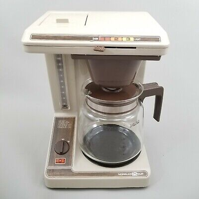 Brew 12 Cup Coffee Maker (Vintage Norelco 12 Cup Dial a Brew II 2 Coffee Maker Machine Drip Filter HB 5193)
