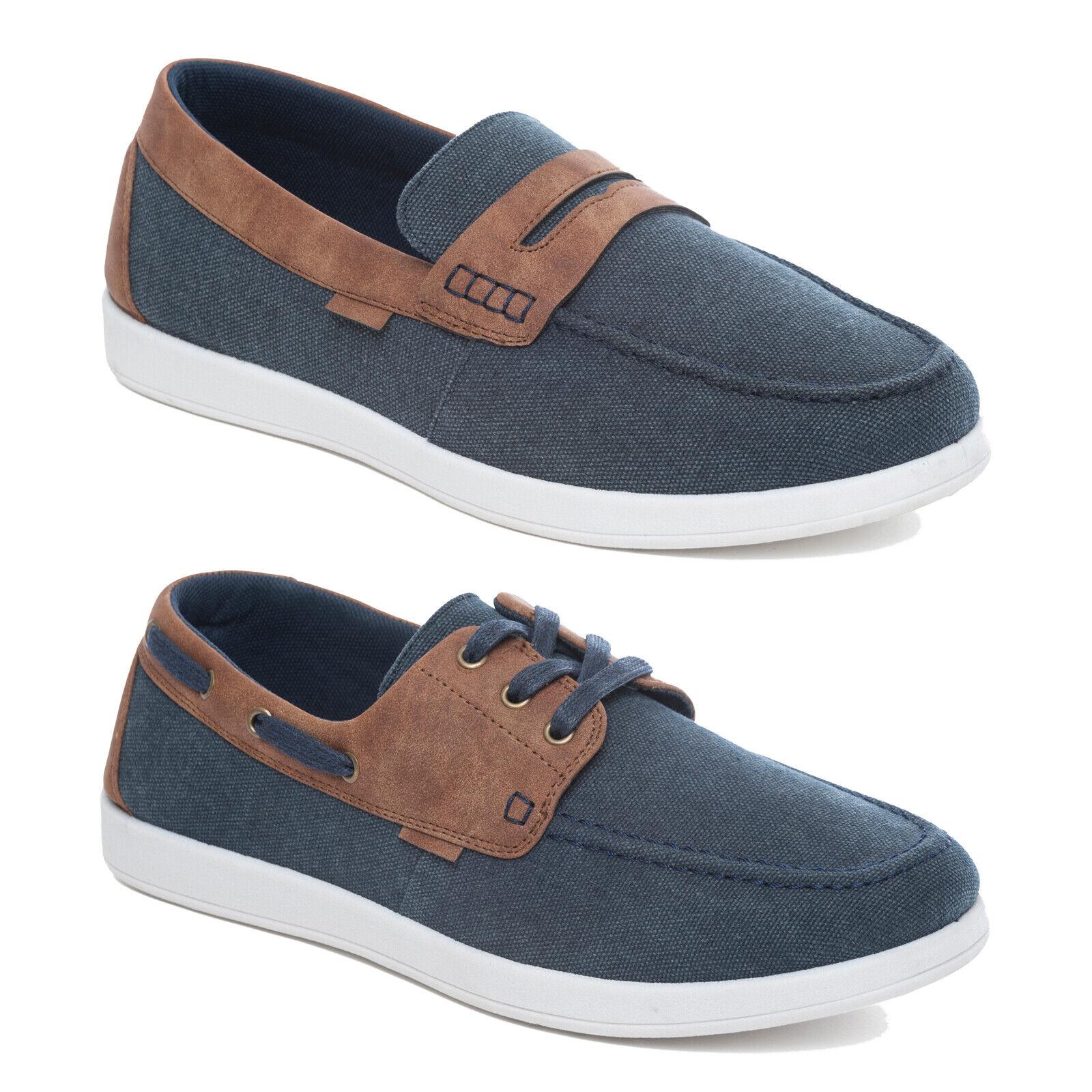 mens canvas boat shoes