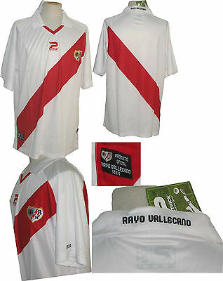 RAYO VALLECANO 2010/2011 JERSEY SIZE XL NEW RIVER PLATE S/S image