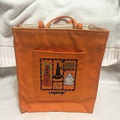 Longaberger,HALLOWEEN  Canvas bag / tote !!!  - Halloween Tote