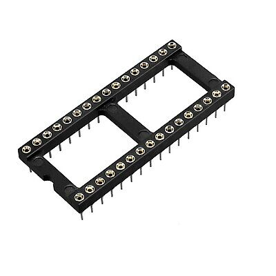17 Piece Taitron TCI T02 28 T8 C DIP IC Chip Socket Adaptor 2 Row 28 Pin Solder
