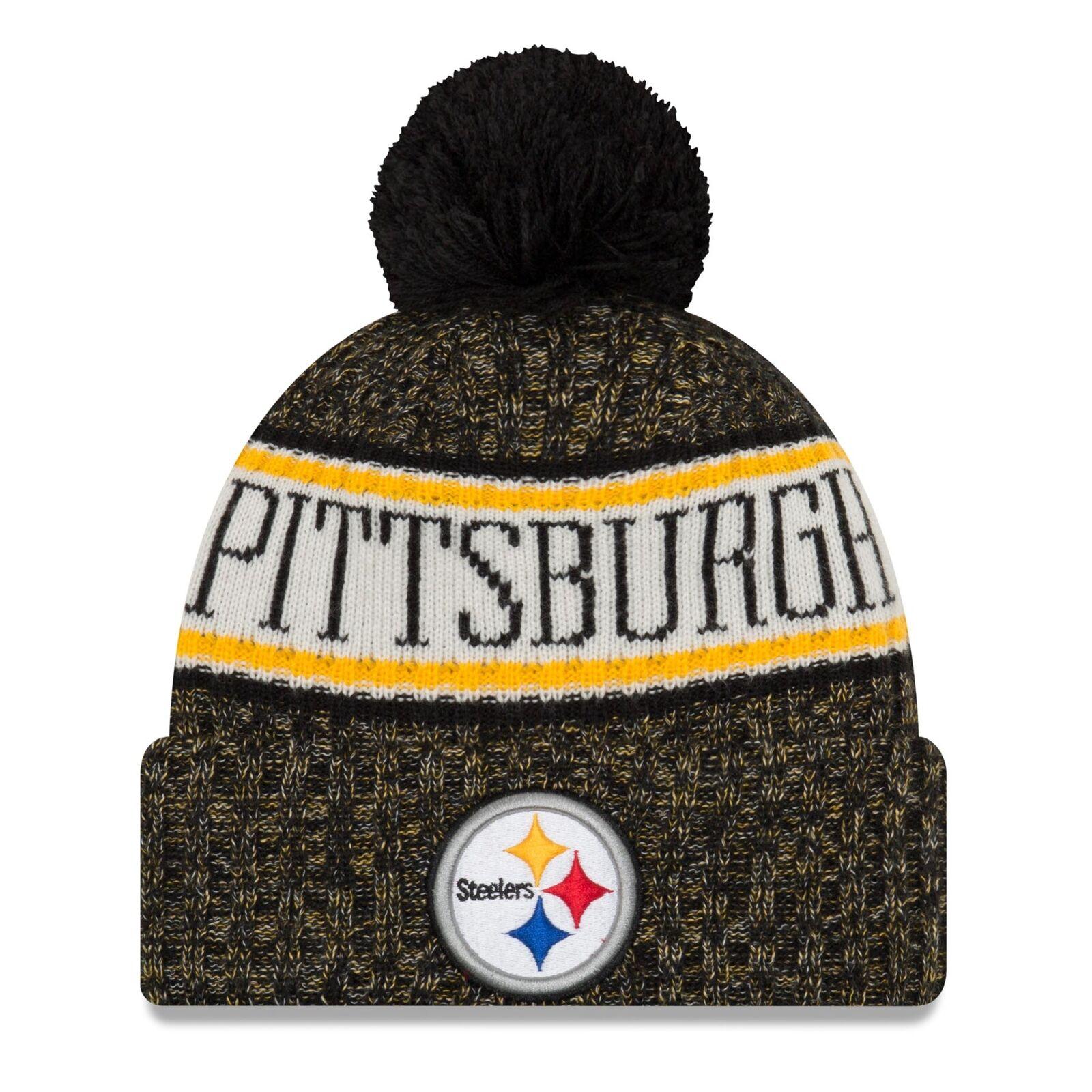 2018 Pittsburgh Steelers Era Knit Hat on Field Sideline Beanie ... 9d3ed5d72