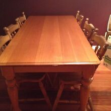 Table and six chairs Merewether Newcastle Area Preview