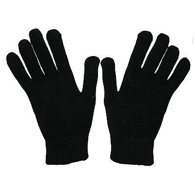 12pair WHOLESALE MENS WINTER MAGIC GLOVES BLACK BUY 65p