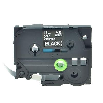 1pk White On Black Label Tape Tz Tze345 18mm For Brother P-touch Pt-d400 Pt-1890