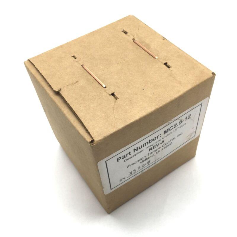 "Precision Torque Control MC2.5-12 Magnetic Clutch Torque 0.5-5.5inlbs Bore 1/2"""