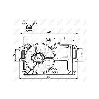 Genuine NRF Engine Cooling Radiator Fan - 47490