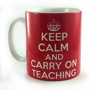 NEW-KEEP-CALM-AND-CARRY-ON-TEACHING-GIFT-MUG-CUP-RETRO-PRESENT-TEACHER-SCHOOL