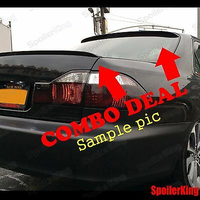 COMBO Spoilers (Fits: Lexus LS430 2001-06) Rear Roof Wing & Trunk Lip