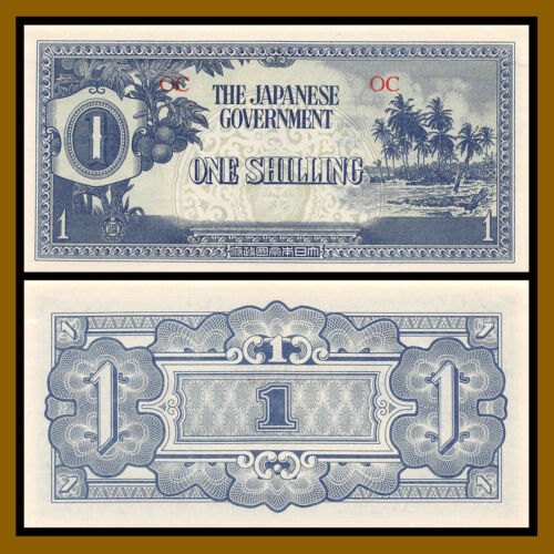 Oceania 1 Shilling, ND 1942 P-2a Japaneses Occupation WWII Uncirculated