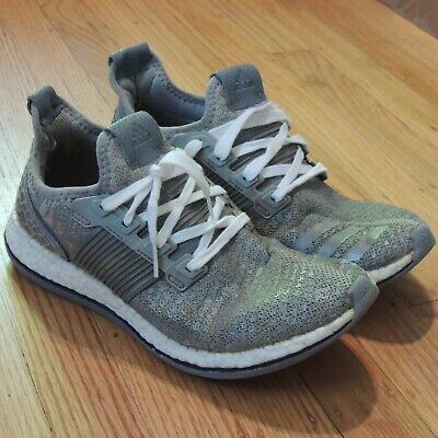 Adidas Pure Boost ZG Gray Knit Shoes Mens Size 8 Missing Insole