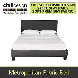 WAREHOUSE DIRECT FABRIC UPHOLSTERED DOUBLE QUEEN BED HEAD FRAME