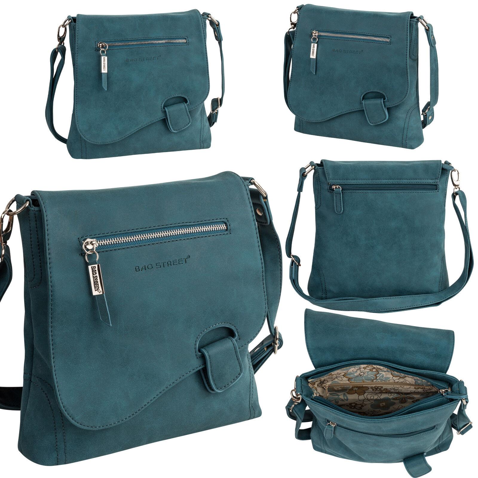 Bag Street Damentasche Umhängetasche Handtasche Schultertasche K2 T0104 Blau