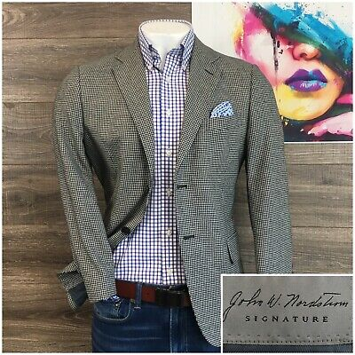 JOHN W NORDSTROM Sport Coat Blazer Cashmere Silk Mens 40S Two Button Jacket Coat Cashmere Mens Sport Coat