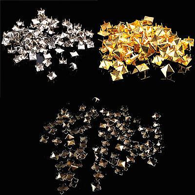 Pyramidenniete Ziernieten GOLD / BRONZE / SILBER Gotik Metall Spikes Pyramiden