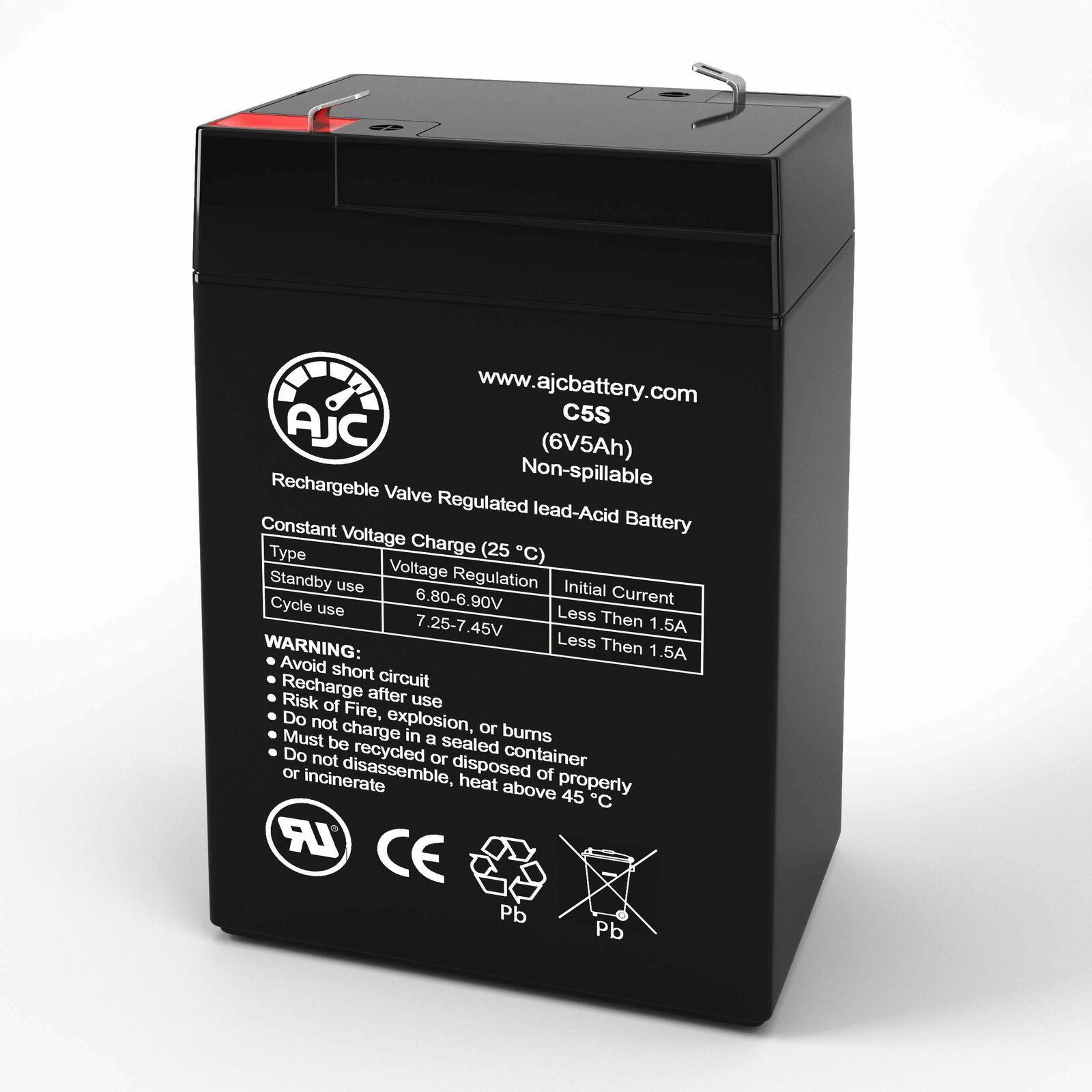 Аккумуляторы (Универсальные батареи и источники энергии) JohnLite cy-0112 6V 5Ah Spotlight Replacement Battery