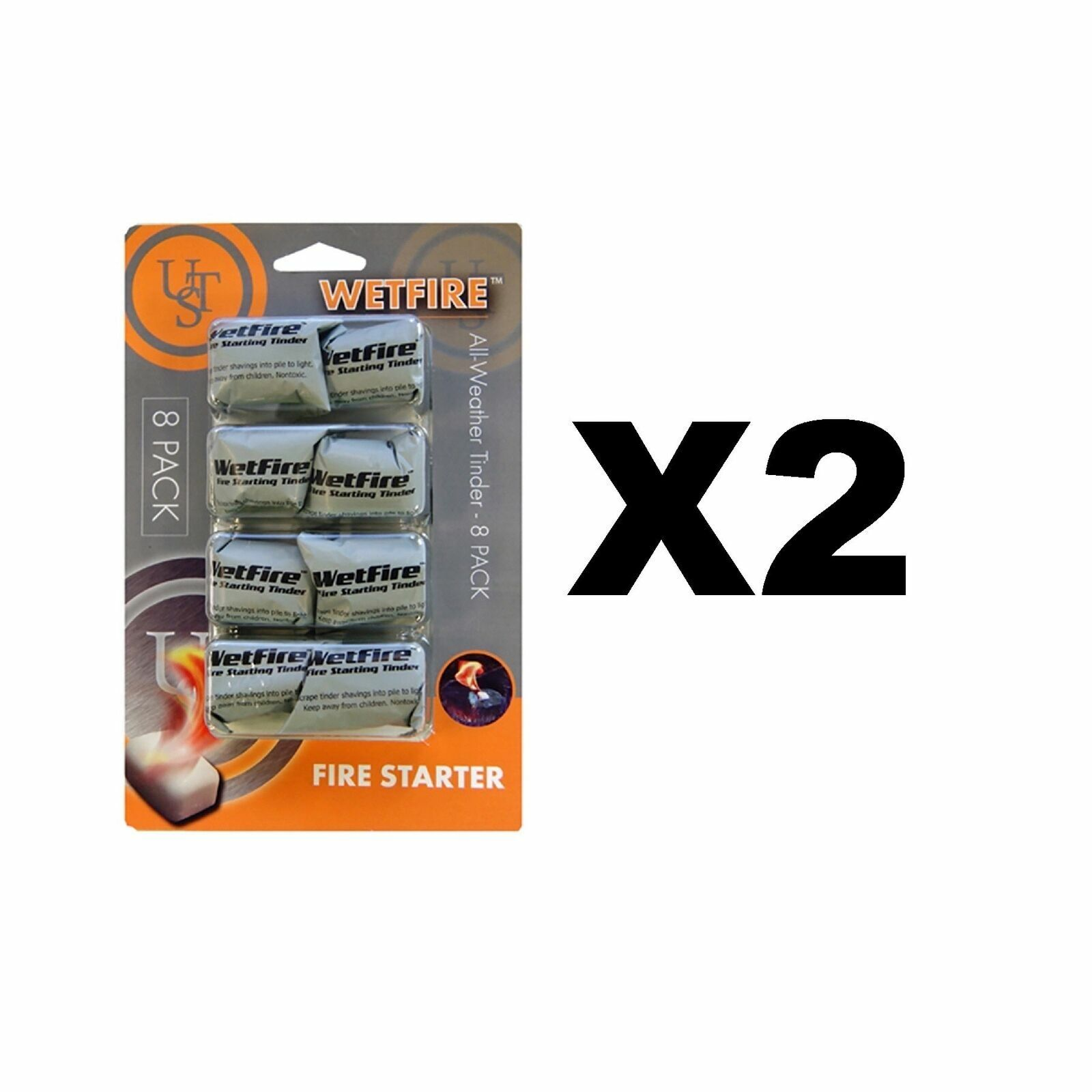 Wetfire Fire Starting Tender - 8 Pack Wet Fire - Ultimate Su