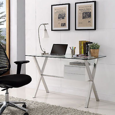 Stasis Office Desk Furniture Good For Home/Business 2 Different Amazing Options  (Glass Desks For Home Office)