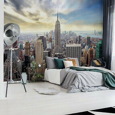 New York City Skyline Photo Wallpaper Wall Mural Fleece EasyInstall Paper