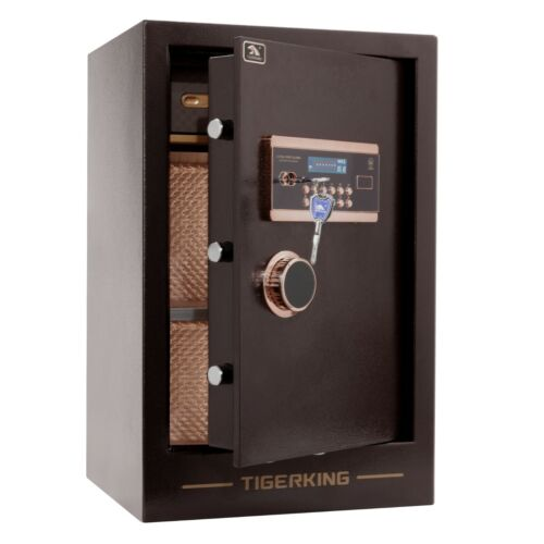 TIGERKING Burglary Digital Security Safe Box for Home Office 3.47 Cubic Feet