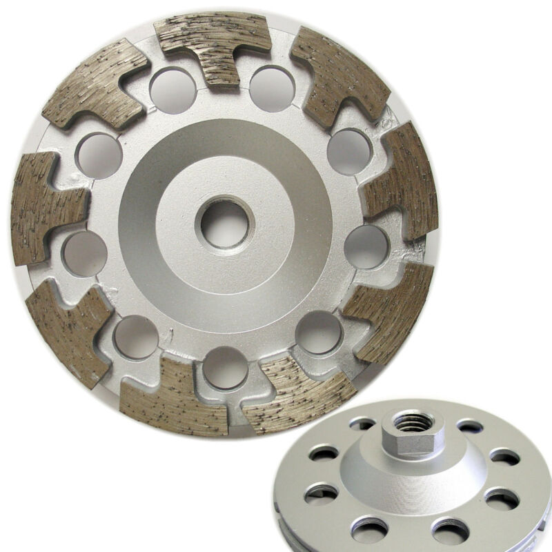 "4.5"" Premium Diamond Cup Wheel T-segment Grinding Concrete Stone  5/8""-11 Arbor"