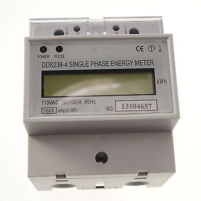 20-100a 110v 60hz Single Phase Din-rail Type Kilowatt Hour Kwh Meter