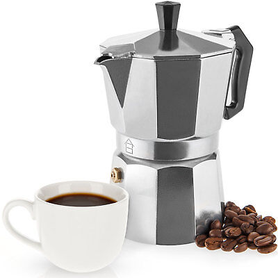 Savisto Espresso Maker 3 Cup Italian Stove Top Coffee Percolator Best Moka Pot Best Italian Coffee