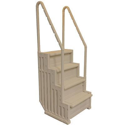 Confer Heavy-Duty Above Ground Swimming Pool Ladder Stair Entry System(Open Box)
