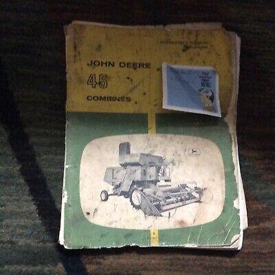 John Deere 45 Combine Operators Manual