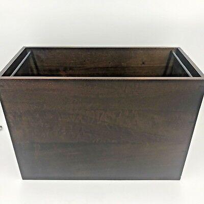 Milano Series Mobile Letter Size Hanging File Box Dark Solid Hardwood New Nib Sh