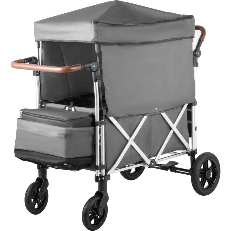 Stroller Wagon Push Wagon 2 Passengers Wagon Stroller Wagon Canopy for Kids