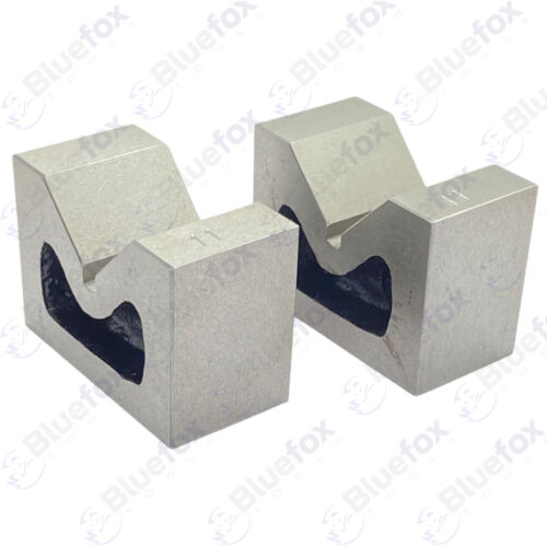 """Cast Iron Vee Block Set Of 2 Pieces 2"""" x 1"""" x 1-1/2"""" Inch V Block Without Clamp"""