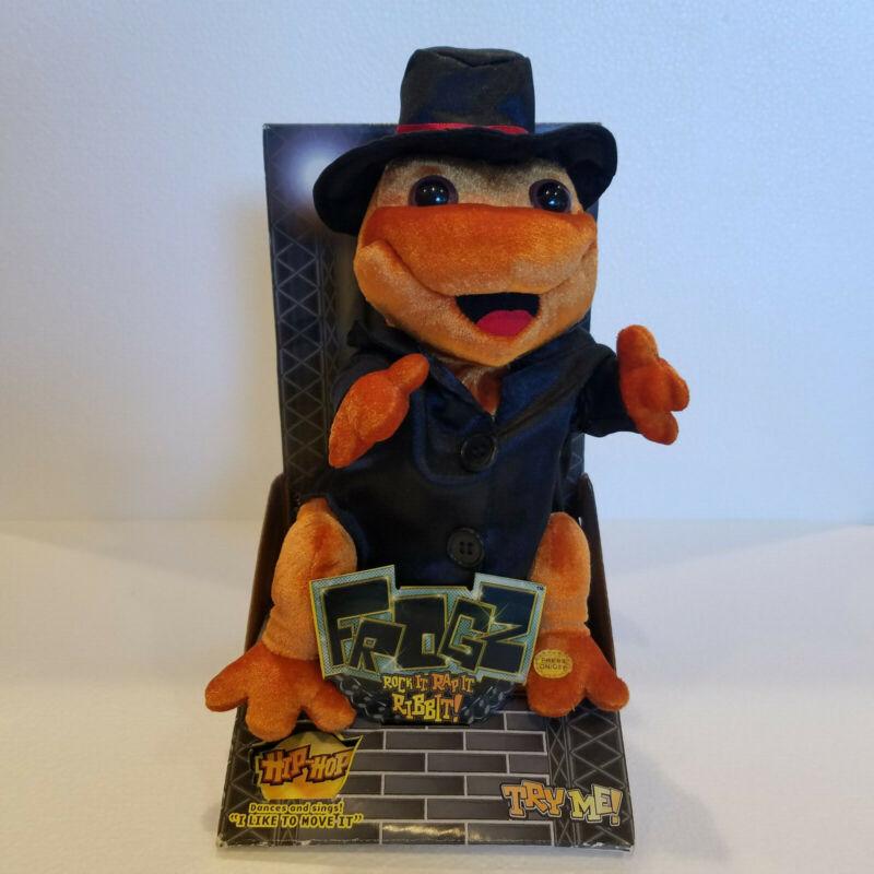2006 Gemmy Frogz Hip Hop  Dancing Frog Rock It Rap It Ribbit Plush Brand NEW