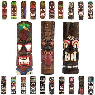 Hawaiimaske Wandmaske Hawaiianische Maske Dekomaske Wandmaske 50cm Holz Tiki