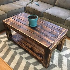 Rustic Country Style Handmade Wood Coffee Table