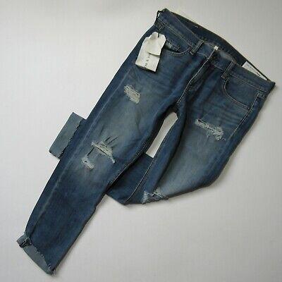 NWT rag & bone /JEAN Dre Capri in Delamo Destroyed Boyfriend Ankle Jeans 29
