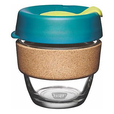 KeepCup Brew Reusuable Glass Coffee Cup Mug with Cork Band - 227ml 8oz - Turbine