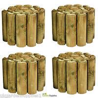 Pack Of 4 - 270mm High Log Rolls - Lawn Edging - Wooden Log Roll - Timber Edge - ruddings wood - ebay.co.uk