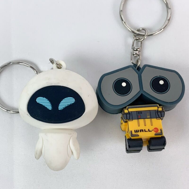 Disney Wall-E and Eve Keychain Set of 2 Mystery Retired HTF Walle Earth Day