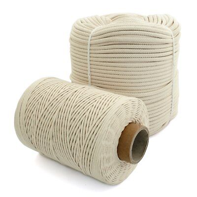 100% Natural Cotton Rope Cord Sash Washing Clothes Line Pulley 16 Strand 4-12mm  Laundry Line Natural