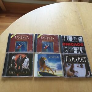 6 CD / Fantasia  Chicago movie/musical  Cabaret  Lion King