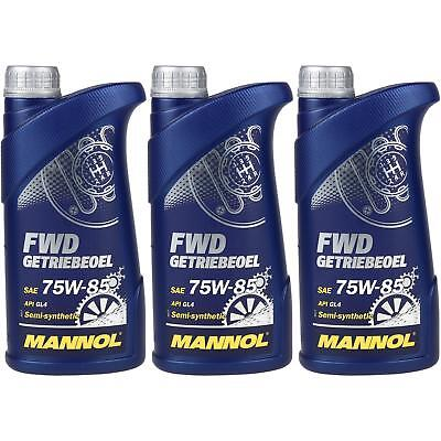 3x1 Liter Original MANNOL Getriebeöl FWD Getriebeoel 75W-85 API GL 4