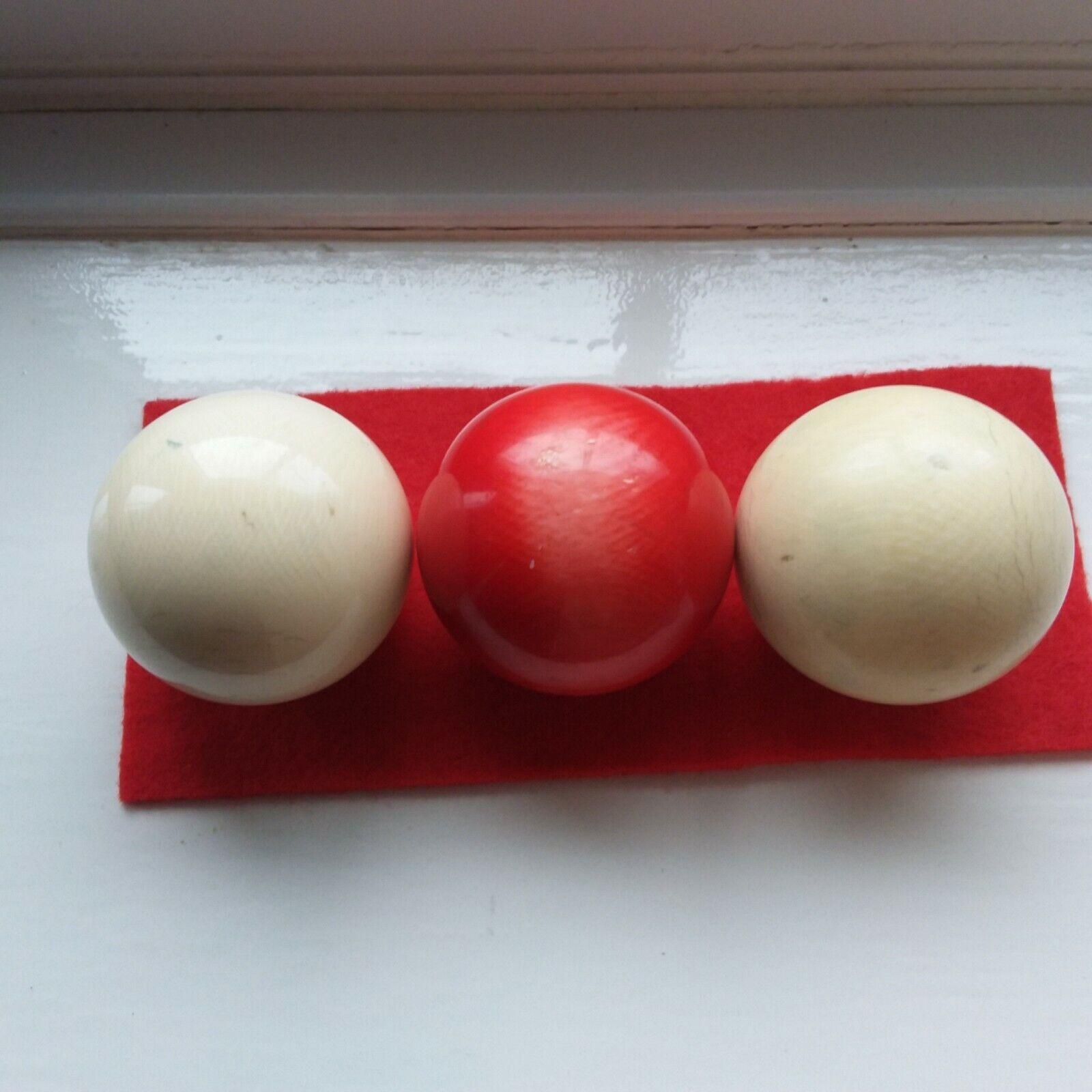 Antique Billiard snooker ball balls x 3