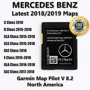 Mercedes-Benz CLA CLS GLA SLC B E-Class 2018 Navigation SD Card GARMIN Map Pilot