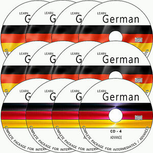 LEARN HOW TO SPEAK GERMAN BASIC+ADVANCE COMPLETE LANGUAGE COURSE ON 12 AUDIO CDs
