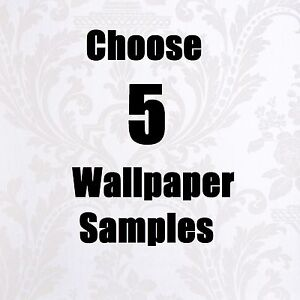 WALLPAPER SAMPLE PACK CHOOSE ANY 5 EMBOSSED, VINYL, MODERN, TEXTURED, CLASSIC